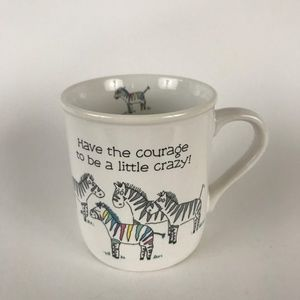 VTG Rainbow Zebra Mug Hallmark Rim Shots